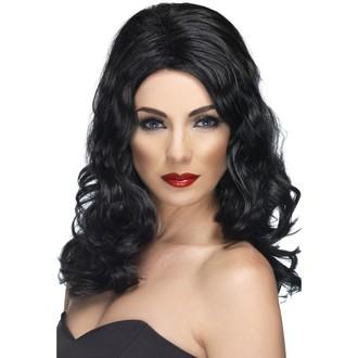 Paruky - Paruka Glamorous černá