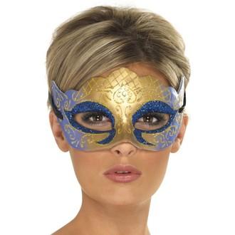 Masky - Škraboška Farfalla glitter