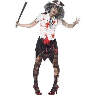 Halloween, strašidelné kostýmy - Dámský kostým Zombie policistka