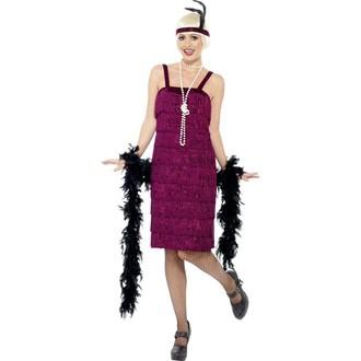 Kostýmy - Kostým Jazz Flapper červená