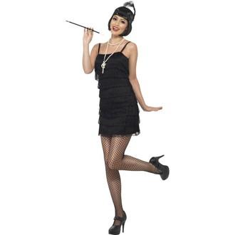 Karnevalové doplňky - Sada Flapper-paruka,náhrdelník,špička,čelenka