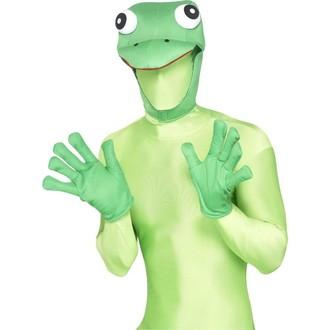 Karnevalové doplňky - Čepice a rukavice Žába