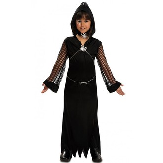 Halloween, strašidelné kostýmy - Dětský kostým Černá vdova