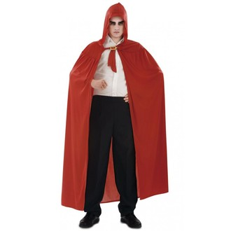 Kostýmy - Plášť s kapucí červený
