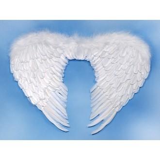 Karnevalové doplňky - Péřová andělská křídla lll