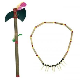 Indiáni - Indiánský náhrdelník a tomahawk