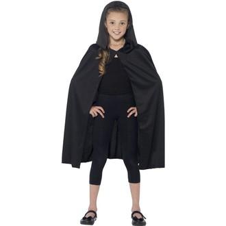Kostýmy - Dětský plášť s kapucí černý