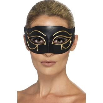 Masky - Škraboška Egyptská černozlatá