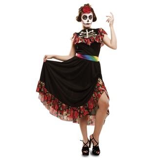 Halloween, strašidelné kostýmy - kostým na halloween dámský - Kostým Den mrtvých tanečnice