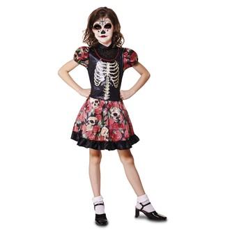 Halloween, strašidelné kostýmy - dívčí kostým na halloween  Kostlivka