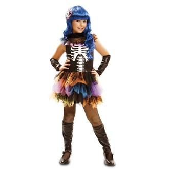 Halloween, strašidelné kostýmy - Dětský kostým Kostlivka na halloween