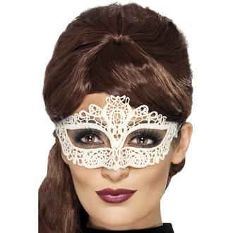 Masky - Škraboška síťovaná bílá