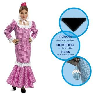 Kostýmy - Dětský kostým Madridská dívka růžová