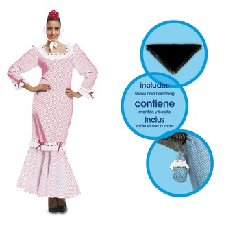 Kostýmy - Kostým Madridská žena bílá