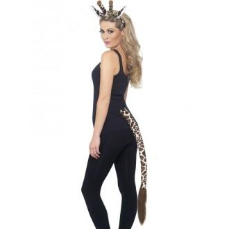 Karnevalové doplňky - Čelenka s ocasem Žirafa