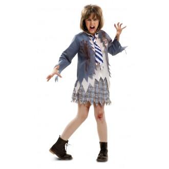 Halloween, strašidelné kostýmy - Dětský kostým Zombie školačka