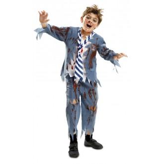 Halloween, strašidelné kostýmy - Dětský kostým Zombie školák