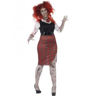Halloween, strašidelné kostýmy - Kostým Zombie školačka