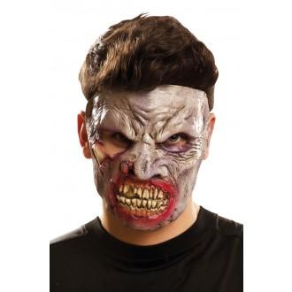 Halloween, strašidelné kostýmy - Obličejová maska Hladová zombie
