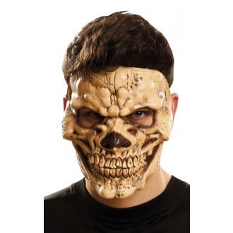 Halloween, strašidelné kostýmy - Maska obličejová Zlověstná lebka