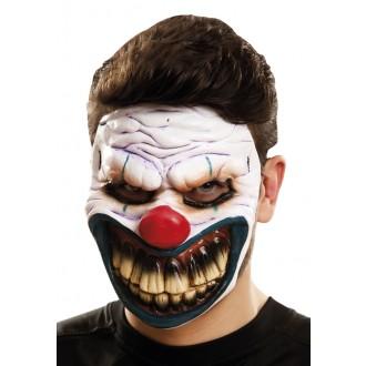 Halloween, strašidelné kostýmy - Maska obličejová Ďábelský klaun
