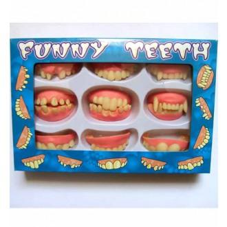 Karnevalové doplňky - Sada 9 druhů zubů