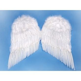 Mikuláš - Čert - Anděl - Péřová andělská křídla na anděla