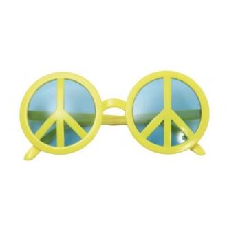 Hippie - Brýle Hippie symbol žluté