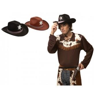 Kovbojové-divoký západ - Klobouk Sherif černý