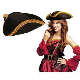 Piráti - Klobouk Pirát se zlatým lemem