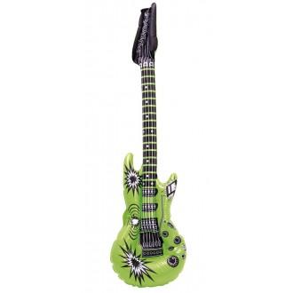 Karnevalové doplňky - Nafukovací kytara zelená