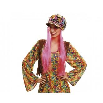 Hippie - Klobouk Čepice Hippie s vlasy