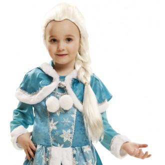 Paruky - Dětská paruka Ledová královna Elsa