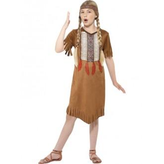 Kostýmy - Dětský kostým Indiánka s čelenkou