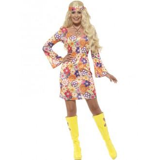 Hippie - Kostým Hippiesačka-šaty