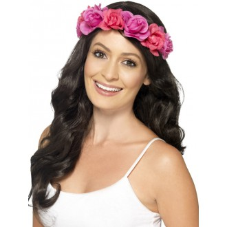 Havajská párty - Havajský věneček na hlavu růžový