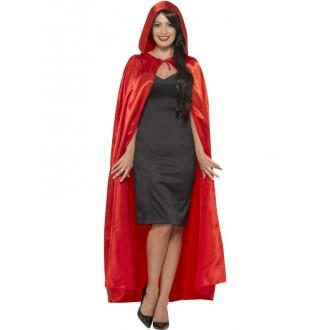 Halloween, strašidelné kostýmy - Plášť s kapucí červený