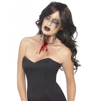 Halloween, strašidelné kostýmy - Zranění Roztržené hrdlo