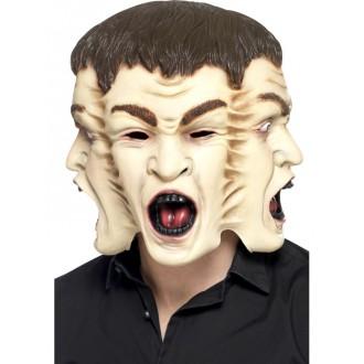 Halloween, strašidelné kostýmy - Maska 3 obličeje