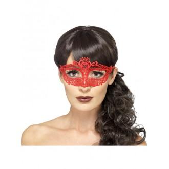Masky - Škraboška síťovaná červená