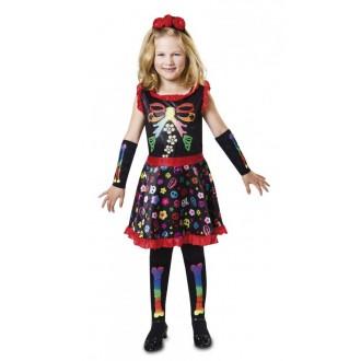 Halloween, strašidelné kostýmy - Dětský kostým na halloween Veselá kostlivka
