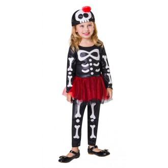 Halloween, strašidelné kostýmy - Dětský kostým Kostlivka