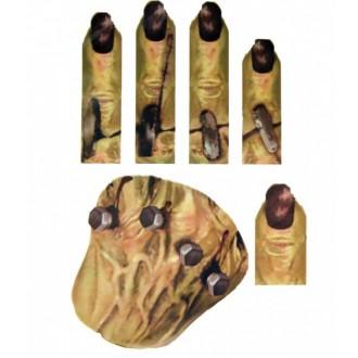 Halloween, strašidelné kostýmy - Zranění tetování na ruku šrouby
