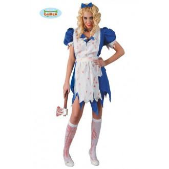 Kostýmy Halloween - Výprodej - dámský kostým na halloween Alice
