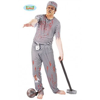 Kostýmy Halloween - Výprodej - Halloweenský kostým trestanec