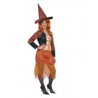 Výprodej Karneval - levný kostým čarodějnice s kloboukem