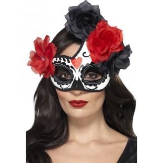Masky - Škraboška Půlměsíc Day of the dead