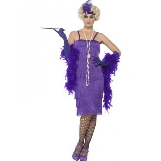 Kostýmy - Kostým charleston dlouhé, purpurové