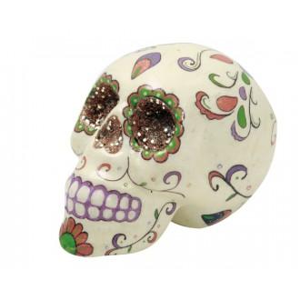 Halloween, strašidelné kostýmy - Zdobená lebka barevná