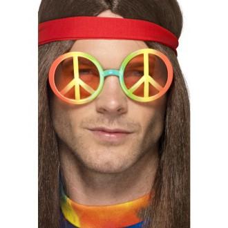 Hippie - Brýle hippie, duhové